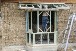 Framing up a bay window.
